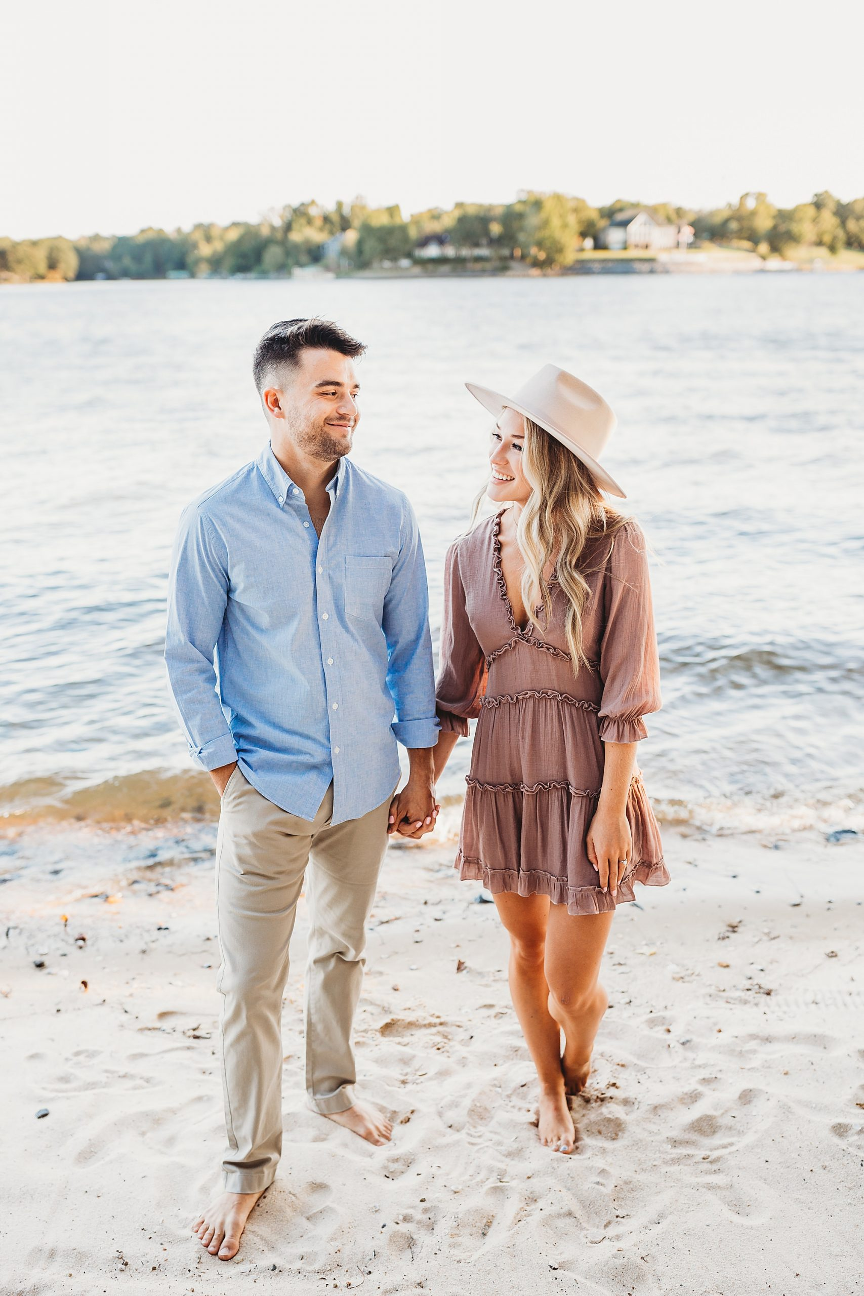 engagement photos by the lake